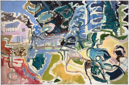 Patrick Heron: [Little Parc Owles from the Garden]